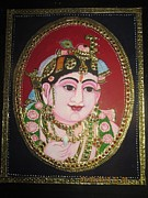 Gold Reliefs - Bal Krishna by Asha Nayak