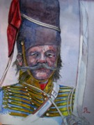 Mustache Painting Prints - Balaklava Print by Ray Agius