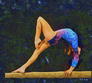Gymnastics Paintings - Balance Beam by Elizabeth Coats