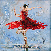 Contemporary Dance Paintings - Balance by Karina Llergo Salto