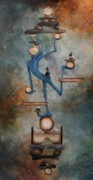 Rust Paintings - Balance by Lorraine Ulen