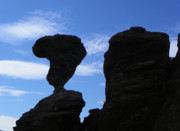 Amazing Mixed Media Prints - Balanced Rock  - Amazing Landscapes Print by Photography Moments - Sandi