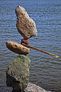 Tip Prints - Balanced stones Print by Garry Gay
