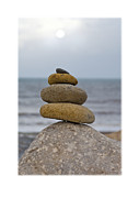 Pebbles Prints - Balancing Pebbles Print by Mal Bray