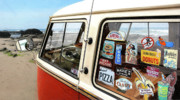Roof Digital Art Prints - Balboa Bus Print by Ron Regalado