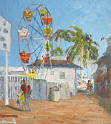 Lori Quarton Art - Balboa Fun Zone by Lori Quarton