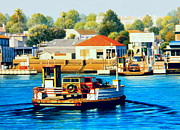 Newport Beach Framed Prints - Balboa Island Ferry Framed Print by Frank Dalton