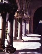 Buidlings Framed Prints - Balboa Park Arches Framed Print by Theo  Snell
