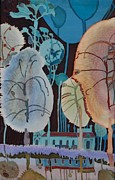 Reflection Tapestries - Textiles Prints - Balboa Park Print by Irina Dorofeeva