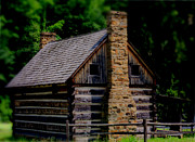 Old Cabins Digital Art - Balckberry Hollow Cabin by Kris Napier
