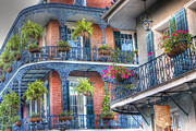 Balcony Prints - Balconies - New Orleans Print by Steve Sturgill