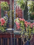 Historic Architecture Paintings - Balcony Gardens by Sue Zimmermann