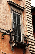 Neighborhood Prints - Balcony in Rome Print by John Rizzuto
