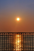 Balcony Digital Art Posters - Balcony Sunrise Poster by Bill Cannon