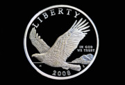 Coins Digital Art - Bald Eagle Silver Dollar Coin by Randy Steele