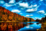 Autumn Leaves Acrylic Prints - Bald Mountain Pond II Acrylic Print by David Patterson