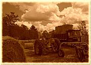 Bales Photo Metal Prints - Bales On The Move Metal Print by The Stone Age