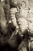 Submissive Metal Prints - Bali, Indonesia, Asia Stone Statues Metal Print by Keith Levit