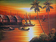 Balinese Art Crafts - Bali Sunset 1