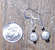 Circle Jewelry - Bali Swirl Bead Earrings by Elizabeth Carrozza