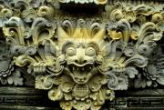 Diety Photos - Bali Temple Art by Jerry McElroy