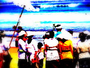 Mystical Art Posters - Balinese Beach Funeral  Poster by Funkpix Photo Hunter