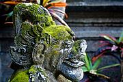 Stone Carving Prints - Balinese Statue Print by Nila Newsom