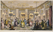 Ball Gown Metal Prints - BALL, 18th CENTURY Metal Print by Granger