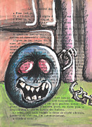 Jail Mixed Media - Ball and Chain by Jera Sky