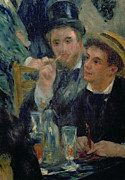 Glass Paintings - Ball at the Moulin de la Galette by Pierre Auguste Renoir
