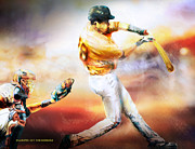 Batter Painting Prints - Ball Buster Print by Mike Massengale