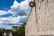 Bearded Man Framed Prints - Ball Court at Chichen Itza Framed Print by Scotts Scapes