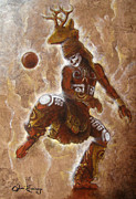 Ball Mixed Media Posters - Ball Game Poster by Juan Jose Espinoza