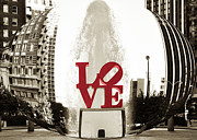 Love Park Framed Prints - Ball of Love Framed Print by Bill Cannon