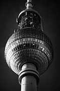 Berlin Germany Photo Prints - ball of the berliner fernsehturm Berlin TV tower symbol of east berlin Germany Print by Joe Fox