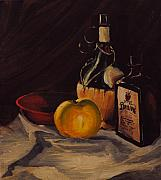 Teapot Paintings - Ballantines by Chris Riley