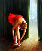 Korea Paintings - Ballerina 2 by Yoo Choong Yeul