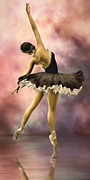 Kids Room Mixed Media Posters - Ballerina Poster by Ana CBStudio