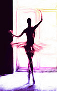 Ballet Dancer Posters - Ballerina at the Window Poster by Stefan Kuhn