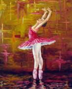 Performing Metal Prints - Ballerina Metal Print by David G Paul