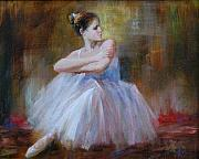 Figuratives Framed Prints - Ballerina E Framed Print by Kelvin  Lei