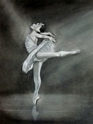 Ballet Drawings Originals - Ballerina by Hannah Ostman