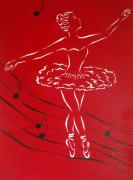Pam Franz Originals - Ballerina In Red by Pamela Allegretto