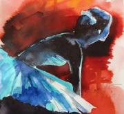 Anxious Paintings - Ballerina in waiting by Shagufta Mehdi