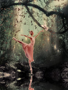 Photomanipulation Acrylic Prints - Ballerina Acrylic Print by Lee-Anne Rafferty-Evans