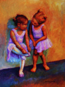 Ballet Dancers Painting Framed Prints - Ballerina Secrets Framed Print by Jeanne Young