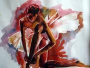 Show Girl Paintings - Ballerina by Shagufta Mehdi