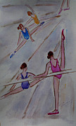 En Pointe Framed Prints - Ballerina Studio Framed Print by Xueling Zou