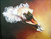 Gown Painting Originals - Ballerina by Svetlana Kanyo