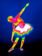Thermography Framed Prints - Ballerina, Thermogram Framed Print by Tony Mcconnell